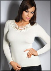NEW WITH TAG  STYLISH SMART womens cream long sleeve top size 12