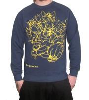 Play Nice All Over Dark Blue Swetshirt Brand New
